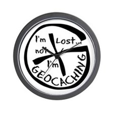 Im Not Lost...Im Geocaching Wall Clock