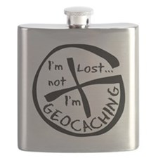 Im Not Lost...Im Geocaching Flask