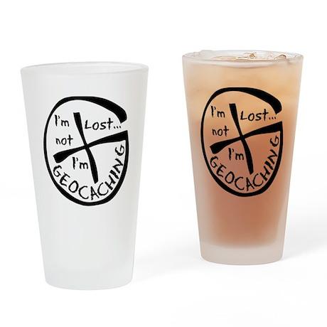 Im Not Lost...Im Geocaching Drinking Glass