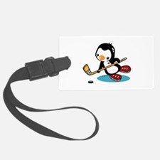 Ice Hockey Penguin Luggage Tag
