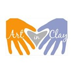 Art in Clay / Heart / Hands 35x21 Wall Decal