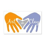 Art in Clay / Heart / Hands 20x12 Wall Decal