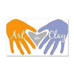 Art in Clay / Heart / Hands Car Magnet 20 x 12