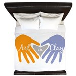 Art in Clay / Heart / Hands King Duvet