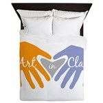 Art in Clay / Heart / Hands Queen Duvet