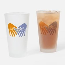 Art in Clay / Heart / Hands Drinking Glass