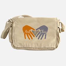 Art in Clay / Heart / Hands Messenger Bag