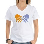 Art in Clay / Heart / Hands Women's V-Neck T-Shirt