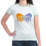 Art in Clay / Heart / Hands Jr. Ringer T-Shirt