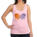 Art in Clay / Heart / Hands Racerback Tank Top