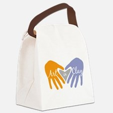 Art in Clay / Heart / Hands Canvas Lunch Bag