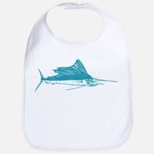 Sailfish Teal Cotton Baby Bib