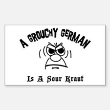 Grouchy German Rectangle Decal