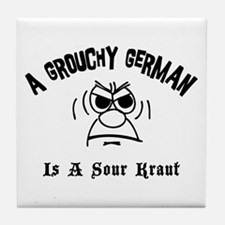 Grouchy German Tile Coaster