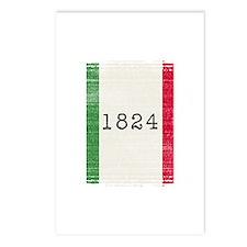 Alamo vintage flag Postcards (Package of 8)