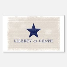 Texas vintage flag Sticker (Rectangle)