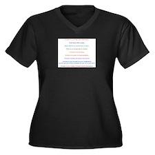 Crochet Manifesto Women's Plus Size V-Neck Dark T-