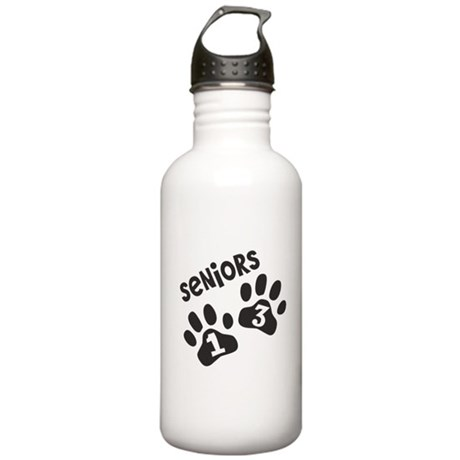 Seniors 2013 Paw Prints Stainless Water Bottle 1.0