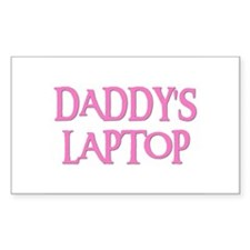 DADDY'S LAPTOP Rectangle Decal