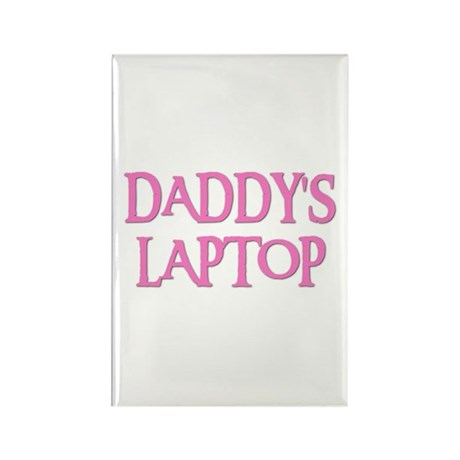 DADDY'S LAPTOP Rectangle Magnet (10 pack)