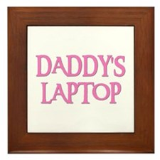 DADDY'S LAPTOP Framed Tile