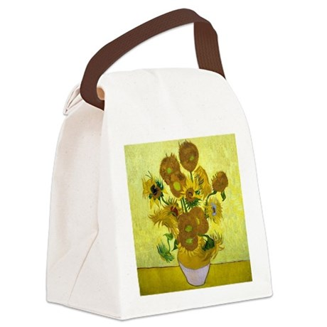 Van Gogh - 15 Sunflowers Canvas Lunch Bag