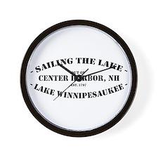 Sailing the Lake Wall Clock