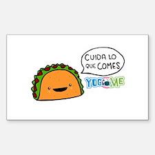 Cuida lo que comes by Yogome Sticker (Rectangle)