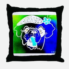 Blue Bulla Throw Pillow