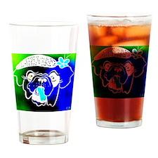 Blue Bulla Drinking Glass