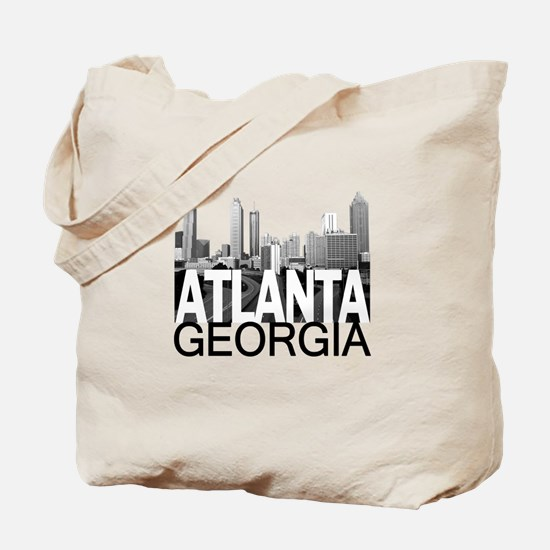 Atlanta Skyline Tote Bag