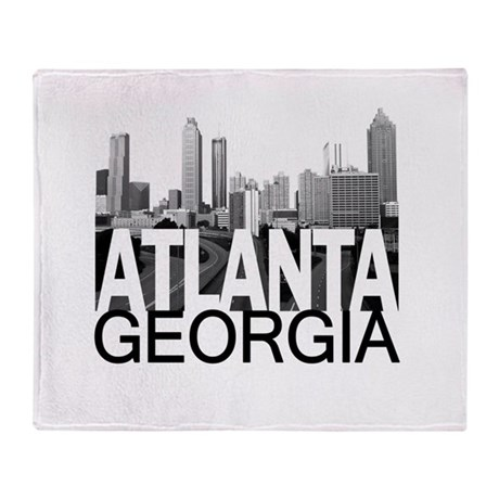 Atlanta Skyline Throw Blanket