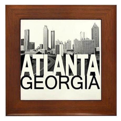Atlanta Skyline Framed Tile