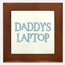 DADDY'S LAPTOP Framed Tile