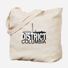 District of Columbia Skyline Tote Bag