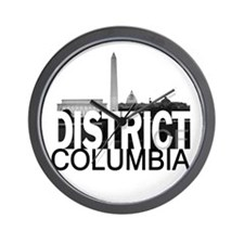 District of Columbia Skyline Wall Clock