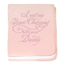 Prince Charming Daddy baby blanket