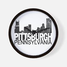 Pittsburgh Skyline Wall Clock