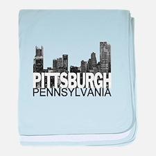 Pittsburgh Skyline baby blanket