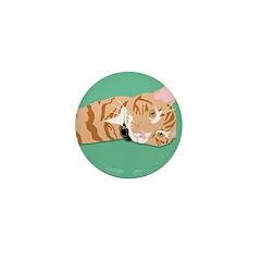Orange Tabby Mini Button