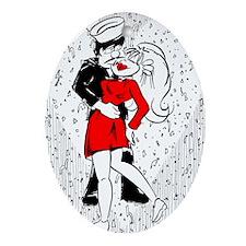 """THE KISS"" by Joe King Oval Ornament"