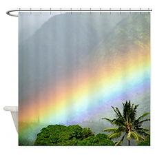 Manoa Valley Rainbow Tropical Shower Curtain