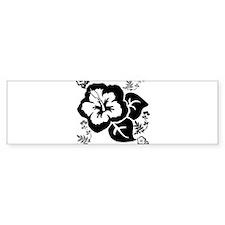OYOOS Black Flower design Bumper Sticker