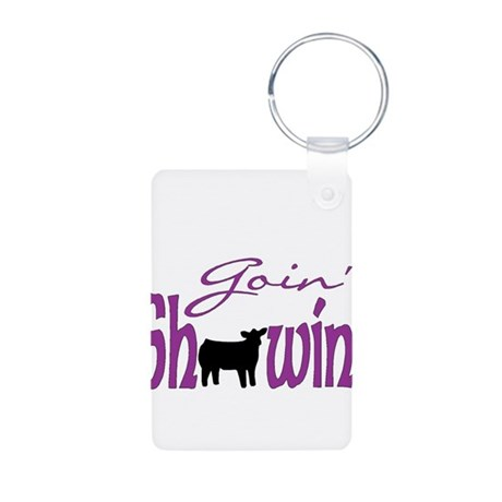 Black heifer Aluminum Photo Keychain