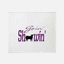 Black heifer Throw Blanket