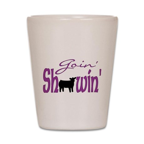 Black heifer Shot Glass