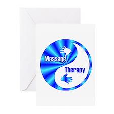 Massage Therapy Yin Yang Symb Greeting Cards (Pack