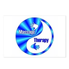 Massage Therapy Yin Yang Symb Postcards (Package o