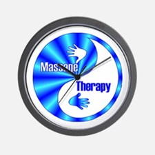 Massage Therapy Yin Yang Symb Wall Clock