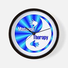 Massage Therapy Yin Yang Symb Wall Clock